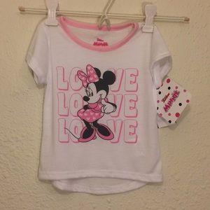12M or 3T girl Disney soft white tee (171 & 172)